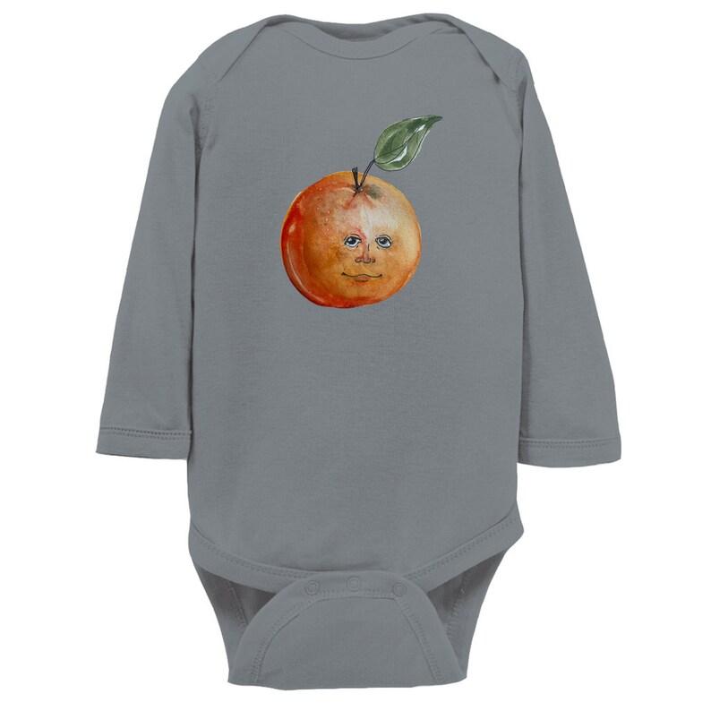 Amused Orange Infant Bodysuit