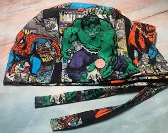 Men//Women Surgical Scrub Cap Hulk Marvel Avengers