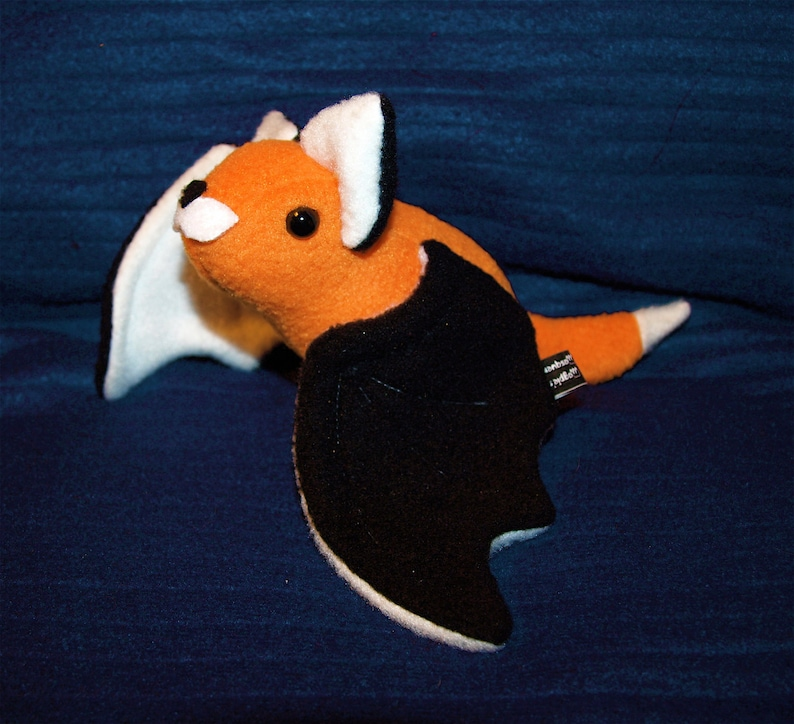 Flying Fox Bat Plushie  Plush Fox Bat Kawaii bat anime image 0