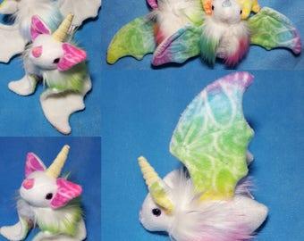 Special edition, unicorn bat plush - plushie, rainbow, kawaii doll