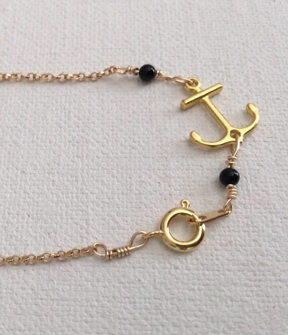 Anchors Away Gold Vermeil Bracelet