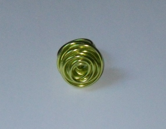 Rose Ring- Lime Green