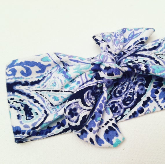 Paisley Printed Bow Headband