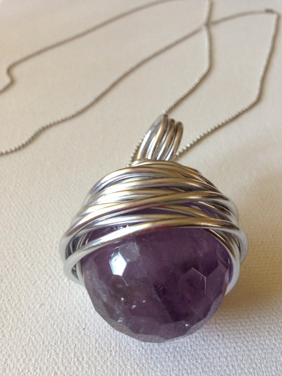 Amethyst Xtra Long Charm Necklace
