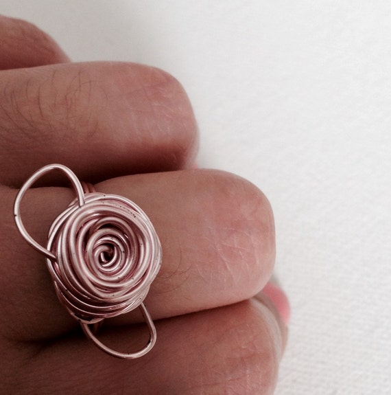 Lili Rose Pink Wire Ring