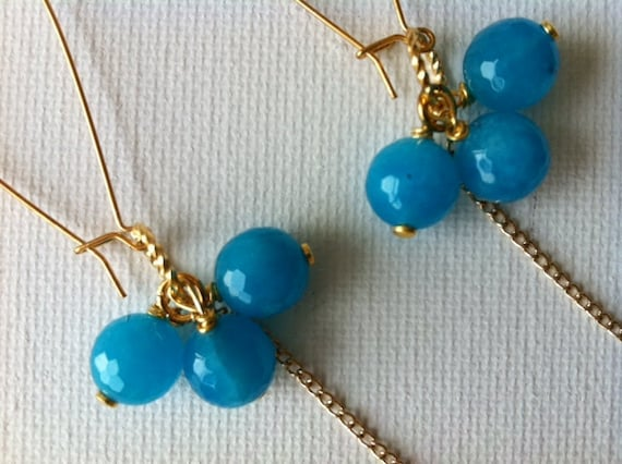 Lili Turquoise & Gold Earrings