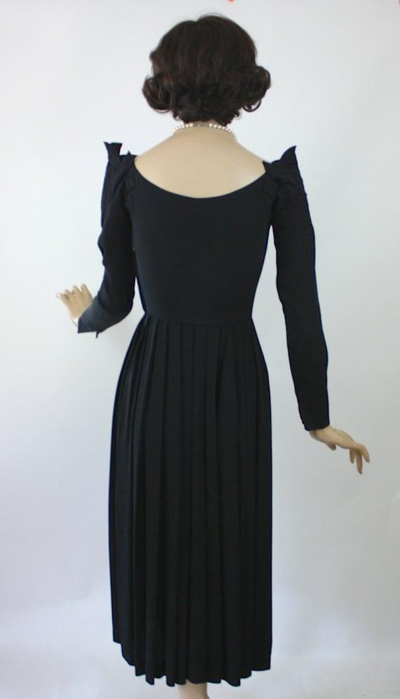50s Dinner Dress Ceil Chapman Dress Black Rayon F… - image 5