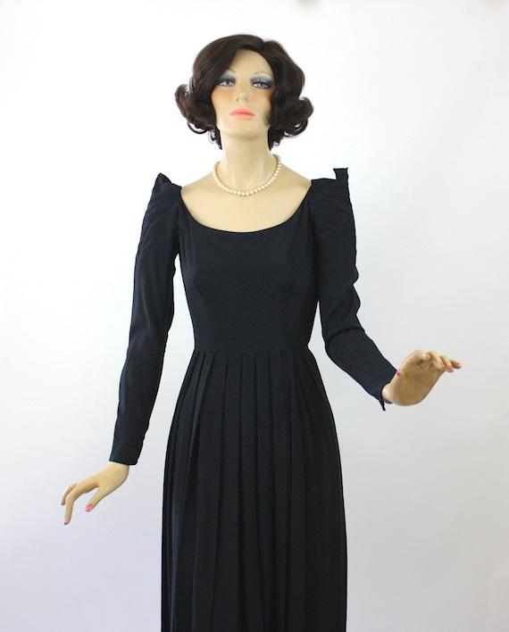 50s Dinner Dress Ceil Chapman Dress Black Rayon F… - image 2