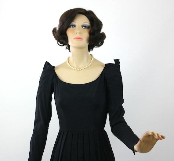 50s Dinner Dress Ceil Chapman Dress Black Rayon F… - image 4