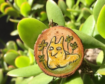 Banana Slug Wisdom Wood Pendant