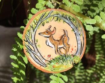 Deer Wisdow Wood Pendant