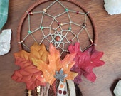 Autumn Splendor Hunting Fall Leaf Dreamcatcher Wreath