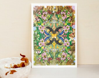 When Spring Comes A4 A3 Illustrated Fine Art Print - Illustration - Home Wall - Artwork - Gift Idea -Wildlife - Nature - Seasons -Art