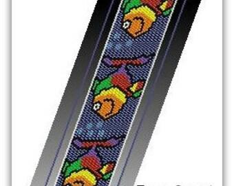 BP-FUN-004 - Fun Fishes - Peyote Pattern, Peyote Bracelet pattern, beadweaving pattern, peyote stitch, bracelet pattern
