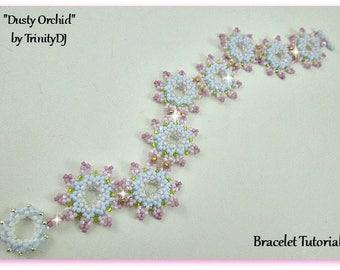 Netting - Dusty Orchid - 2017-099-(BP-BR-102) - Bracelet Tutorial, seed bead jewelry, beadweaving tutorial, beaded bracelet, beadwork