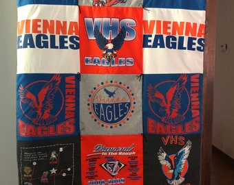 Vienna Eagles Tee Shirt Quilt