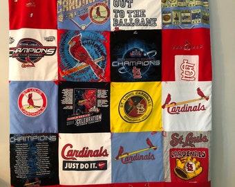 St Louis Cardinals Oversized Tee Shirt Quilt
