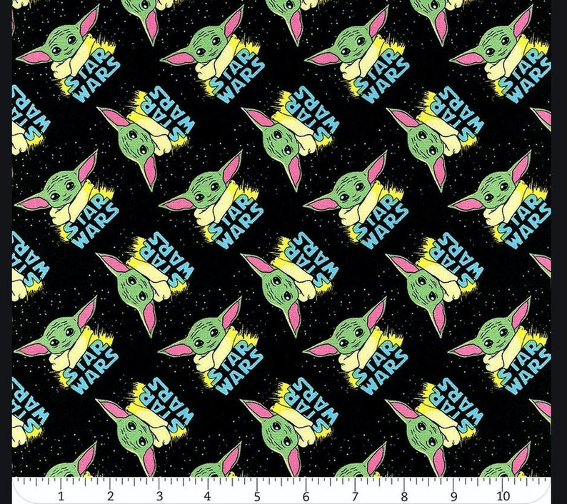 The Child Star Wars masks Quilter/'s cotton great for quilts The Mandalorian garments bags Baby Yoda cotton fabric by Camelot bibs