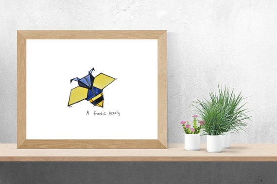 Origami Biene Zeichnung Etsy