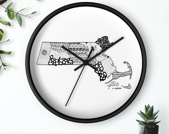 "Micron Pen Massachusetts Wall clock (10"")"