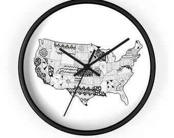 "USA Micron Pen Wall clock (10"")"