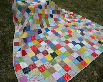 Patchwork Quilt--King Size--Classic Americana--94 X 108--made to order