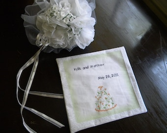 Personalized quilt label--gift quilt. wedding quilt. baby quilt. emroidery