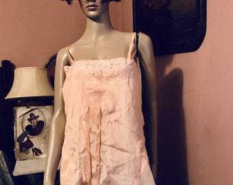 da2578470 Vintage 40s Lingerie 1pc Teddy Step In Pink NWORN Sweet Sexy Sz 36