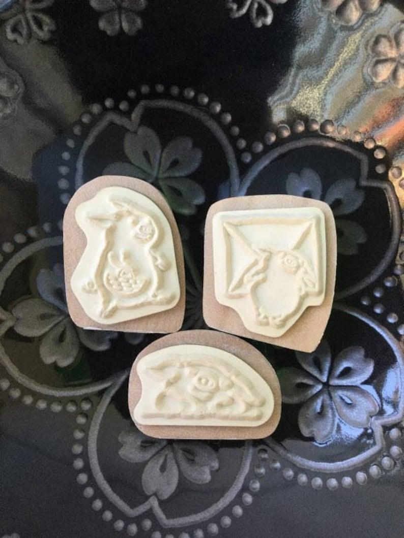 Cute Pig Stamp Kodomo no Kao Heart Piggy Stamp