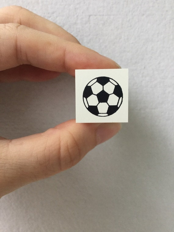 Tiny Schedule Stamp Self Inking Stamp Soccer Ball Stamp 10mm square Kodomo no Kao