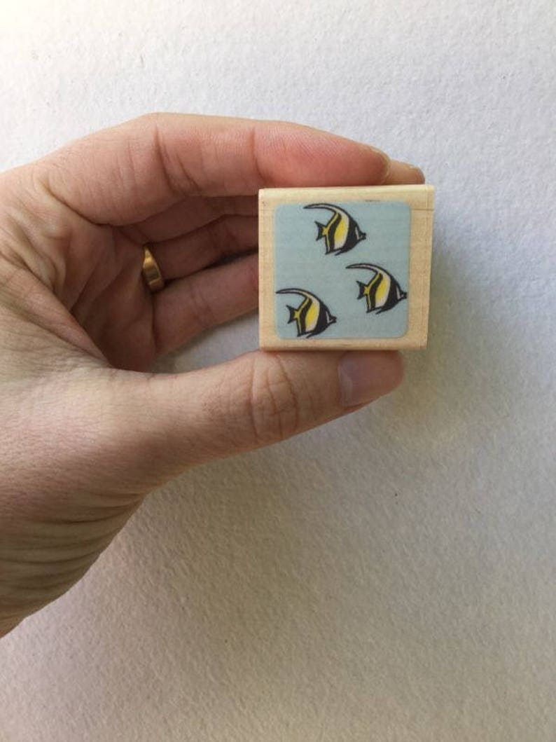 Rare Discontinued Japanese Stamps Little Sea Stamp Kodomo no Kao Fish Stamp