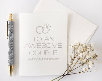 Letterpress Wedding Congratulations Card Man And Wife Etsy