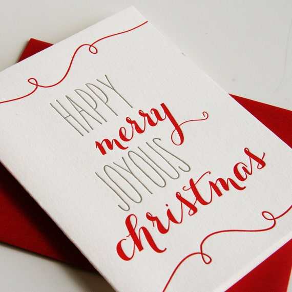 image 0 - Letterpress Holiday Cards