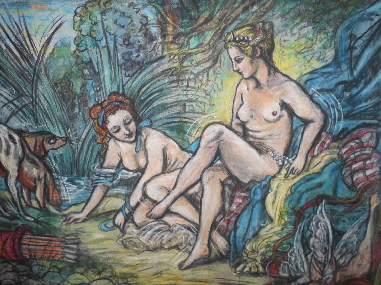 Boucher El Bano De Diana.Francois Boucher Painting Reinvented Diana Leaving The Bath