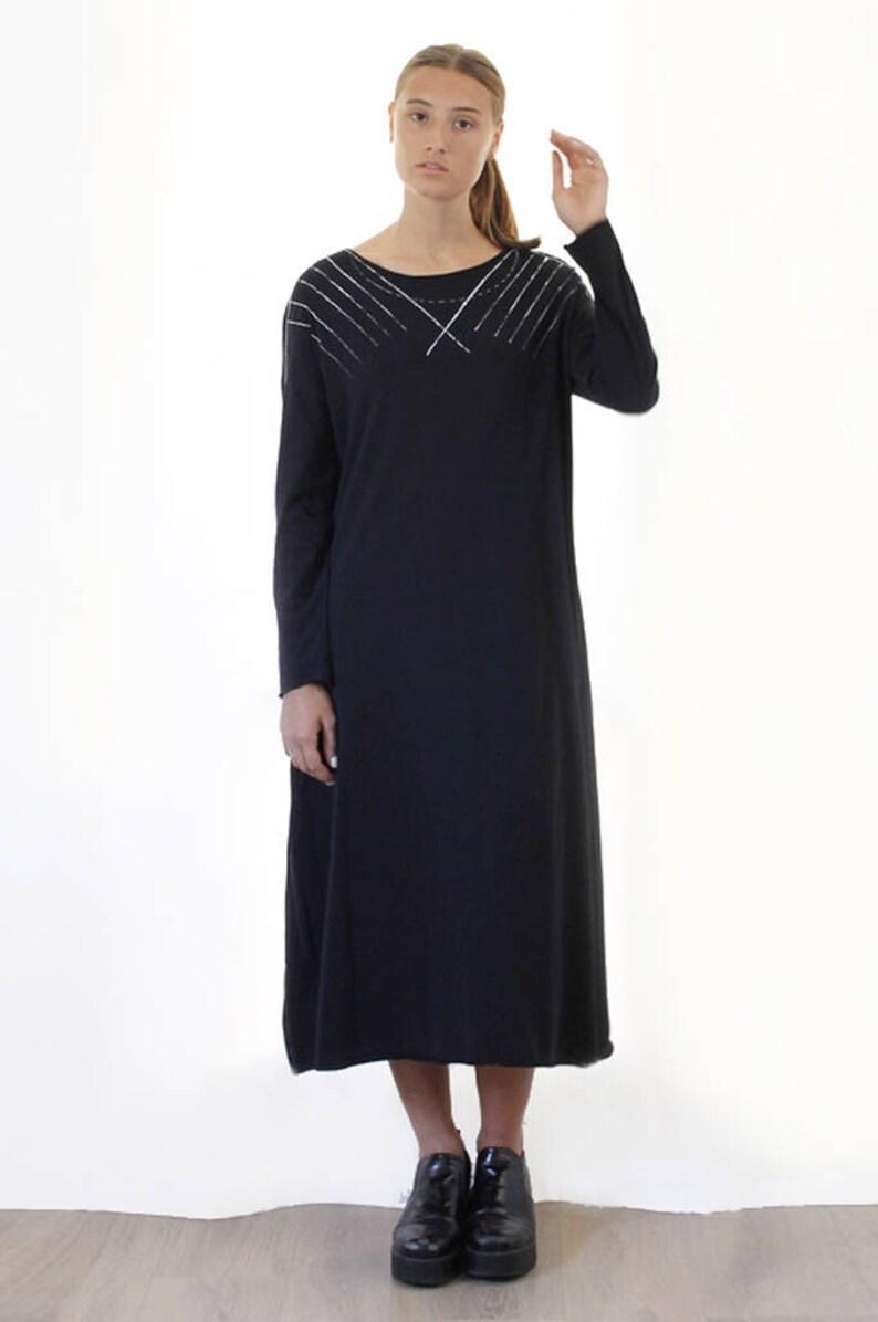 99014a3776 Czarna sukienka sukienka maxi sukienka bawełniana sukienka