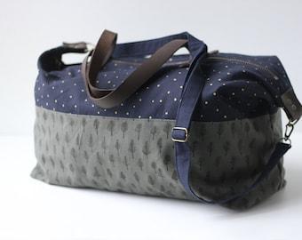 Trees & Stars Weekender Bag. Shoulder Bag. Canvas Bag. Tote. Across body bag. Weekend Bag. Gym Bag. Duffel Bag. Overnight Bag. Carry on Bag.