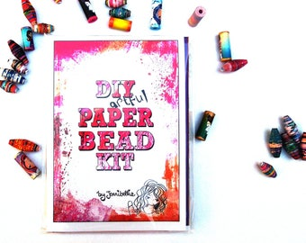 Paper Bead Making Kit by Jennibellie - Girly Beads