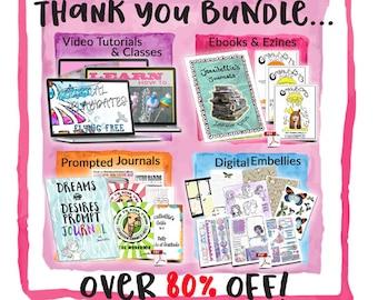 AMAZING THANK YOU Bundle of Classes, Kits, Zines & Embellishments by Jennibellie