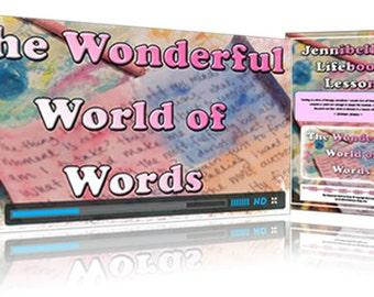 Wonderful World of Words Mini Art Journaling Class by Jennibellie PDF VERSION