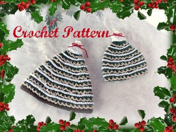 Christmas Tree Hats Crochet Patterns pdf509 infant to adult  d8dd9f0eba0