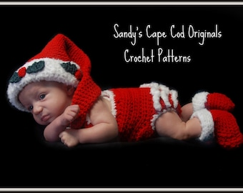 194 PDF  Infant Santa Outfits for Boys and Girls Crochet Pattern Great for Photo Props