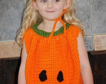 Toddler Pumpkin Costume and Hat Crochet Pattern pdf 467