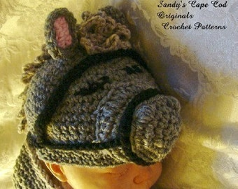 Baby Horse Cocoon and Beanie Set to Crochet Pattern PDF 227 Photo Props