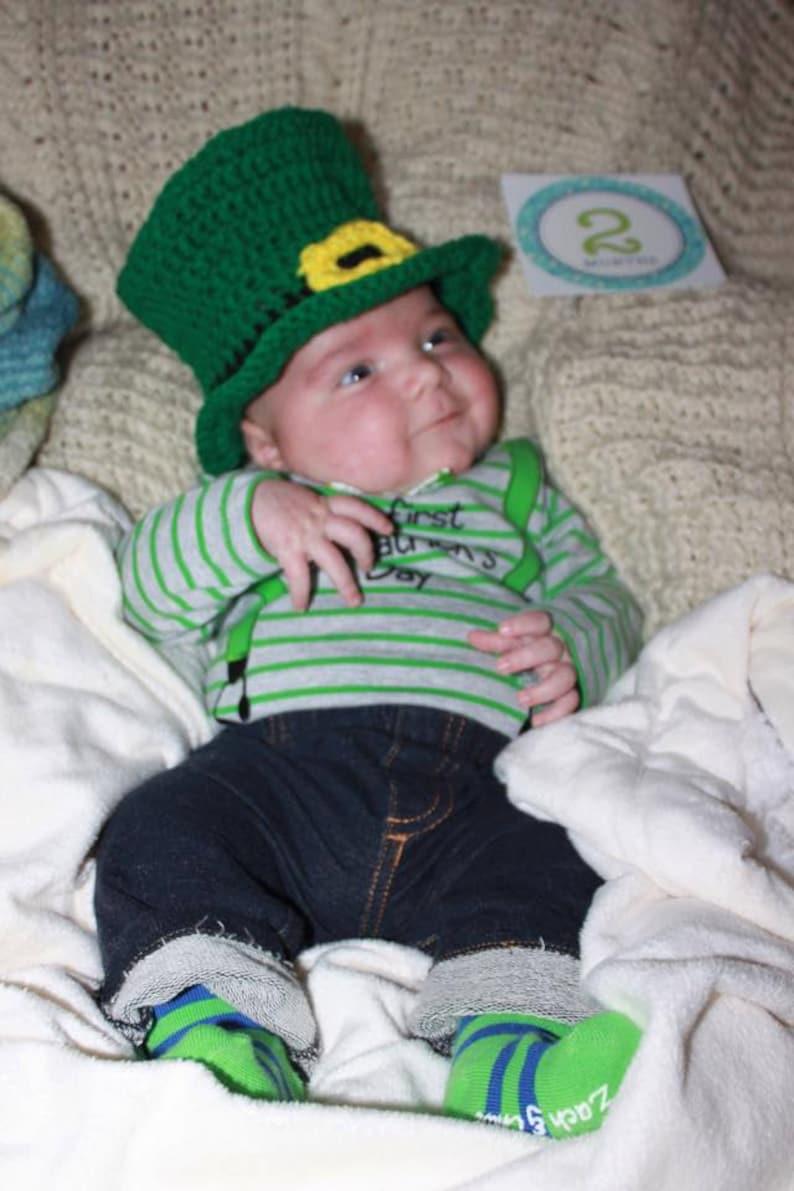 Little Baby Leprechaun Hat PDF Crochet Pattern 358  fcb1457574b