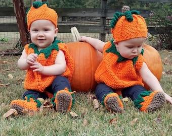 Crochet Baby Pumpkin Costume Digital Crochet Pattern pdf710