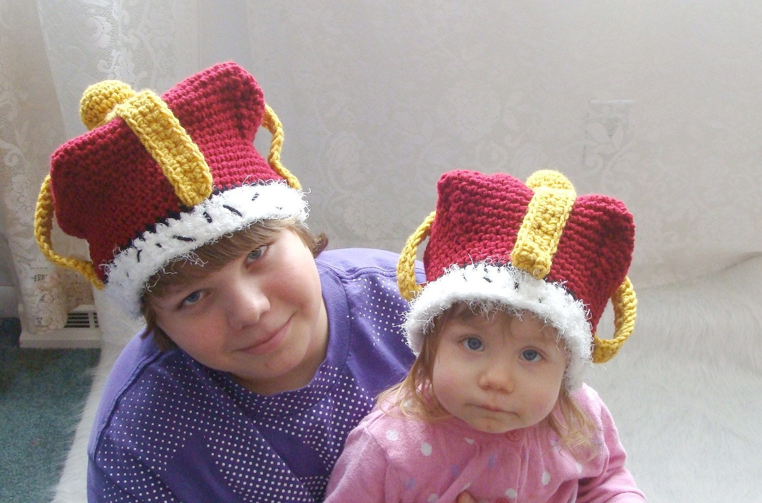 Crown Hat Crochet Pattern Pdf531 Infants To Adults Sizes Etsy