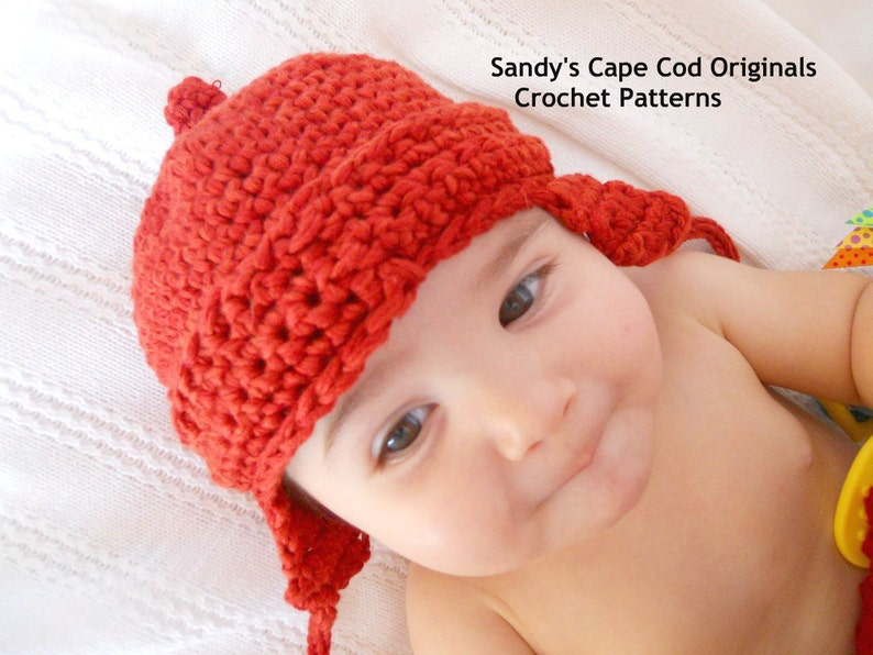 3ae53e7e256 Girl s Pixie Ear Flap Hat and booties crochet pattern pdf