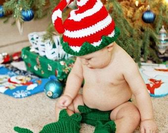 196 PDF Elf Hat and Legwarmer Booties Crochet Pattern Great Photo Props