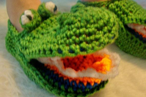 Alligator Slippers Crochet Pattern Pdf 485 Etsy