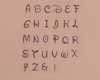 Antlia 3mm Uppercase Alphabet Letter Set Jewelry Stamping The Urban Beader